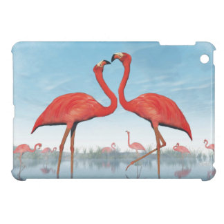 Flamingos courtship - 3D render Case For The iPad Mini
