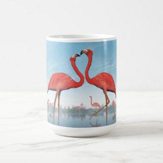 Flamingos courtship - 3D render Coffee Mug