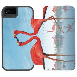 Flamingos courtship - 3D render Incipio Watson™ iPhone 5 Wallet Case