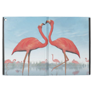 "Flamingos courtship - 3D render iPad Pro 12.9"" Case"