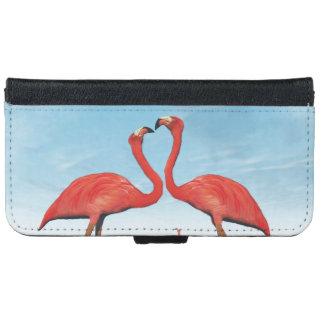 Flamingos courtship - 3D render iPhone 6 Wallet Case