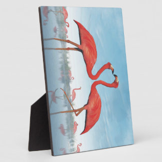 Flamingos courtship - 3D render Plaque