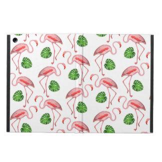 Flamingos Dance White Pattern Case For iPad Air