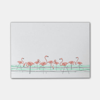 Flamingos Line Post-it Notes