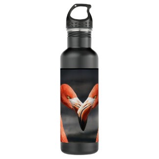 Flamingos love water bottle