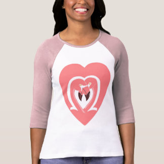 Flamingos Love Women's Raglan Shirt