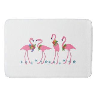 Flamingos n Starfish Tropical Themed Bath Mat