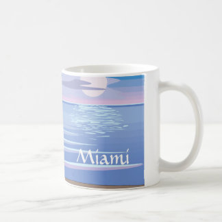 Flamingos On the Beach - Miami Coffee Mug
