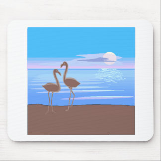 Flamingos On The Beach Mousepads