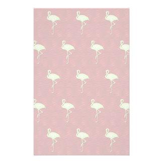 Flamingos pattern stationery