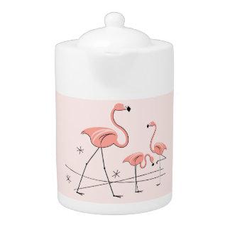 Flamingos Pink Trio 2 teapot