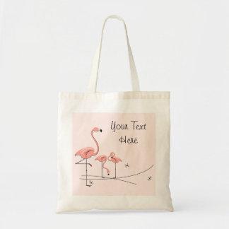Flamingos Pink Trio 4 'Text' tote bag