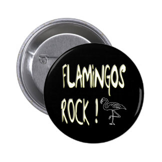 Flamingos Rock! Button