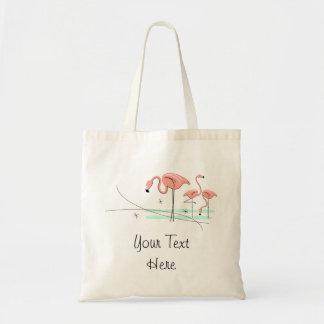 Flamingos Trio 3 'Text' tote bag