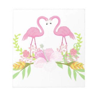 Flamingos TROPICAL Notepad