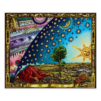 Flammarion Dome Flat Earth Poster