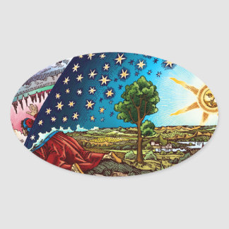 Flammarion Dome Oval Sticker