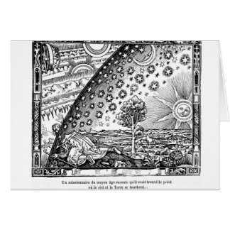 Flammarion woodcut of the universe card