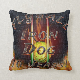 Flamz Flyball Iron Dog - 10 years of competition! Cushion
