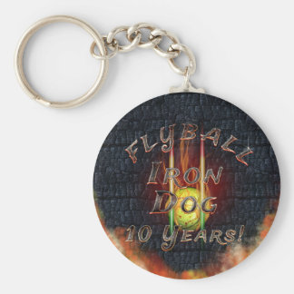Flamz Flyball Iron Dog - 10 years of competition! Key Ring