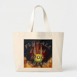 Flamz Flyball Iron Dog - 10 years of competition! Large Tote Bag