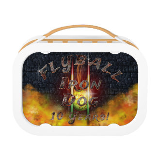 Flamz Flyball Iron Dog - 10 years of competition! Lunch Box