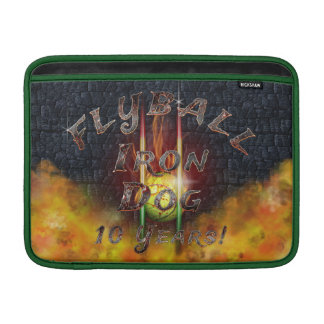 Flamz Flyball Iron Dog - 10 years of competition! MacBook Sleeve