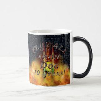 Flamz Flyball Iron Dog - 10 years of competition! Magic Mug