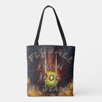 Flamz Flyball Iron Dog - 10 years of competition! Tote Bag