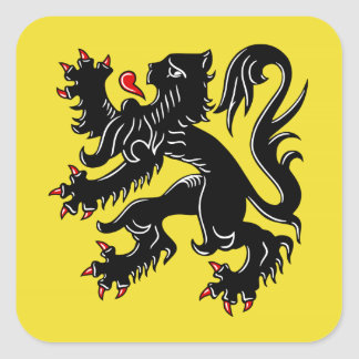 Flanders (Belgium) Flag Square Sticker