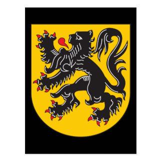 Flanders Coat Of Arms Postcard