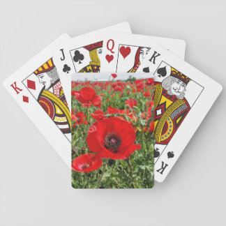 Flanders Poppy Playing Cards
