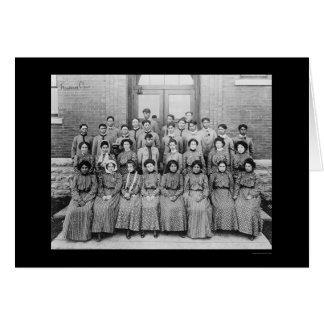 Flandreau Indian Choir in South Dakota 1909 Card