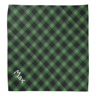 Flannel Green Buffalo Plaid Pattern Pet Name Kerchiefs