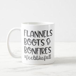 Flannels Boots & Bonfires - Feels Like Fall Mug