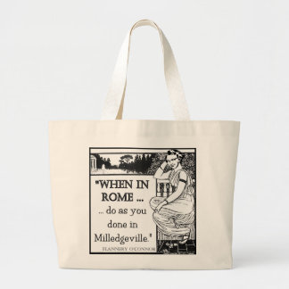 "Flannery O'Connor ""When In Rome"" Beach Bag"