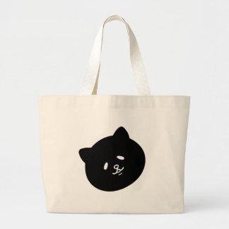 Flap eye ku ro cat jumbo tote bag