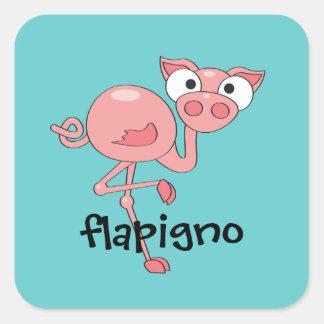 Flapigno Square Sticker
