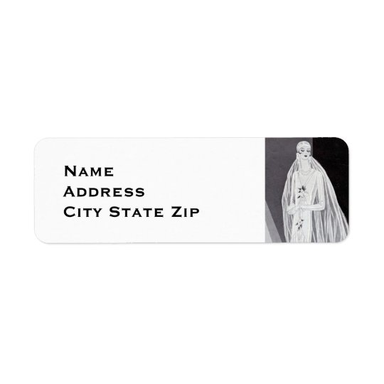 Flapper Bride Return Address Label