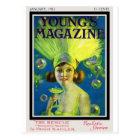Flapper Champagne & Bubbles Antique Magazine Cover Postcard