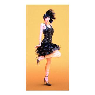 Flapper Dancing Custom Photo Card