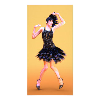 Flapper Dancing Customised Photo Card