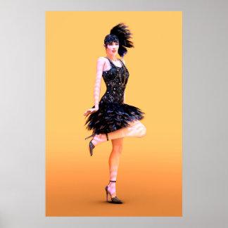 Flapper Dancing Poster