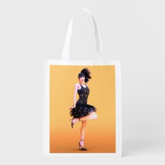 Flapper Dancing Reusable Grocery Bag