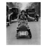 Flapper Driving Pedal Car, 1924 Posters