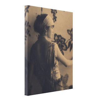 Flapper Fashion - 1920s Dress and Hair Style Canvas Print