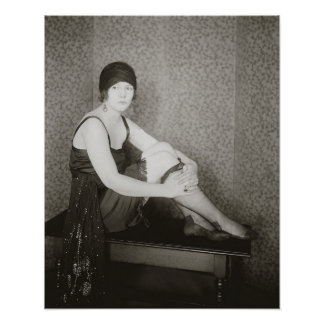 Flapper Fashion, 1922. Vintage Photo Poster