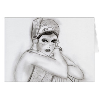 Flapper Girl Card