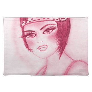 Flapper Girl In Red Placemat