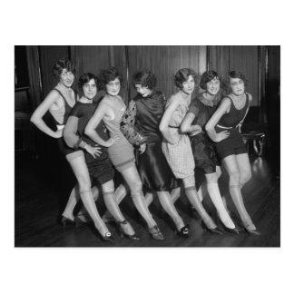 Flapper Girls 1925 Postcard